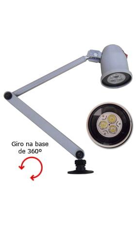 VENDA LUMINÁRIA DE LED COM BASE GIRATÓRIA PM0063